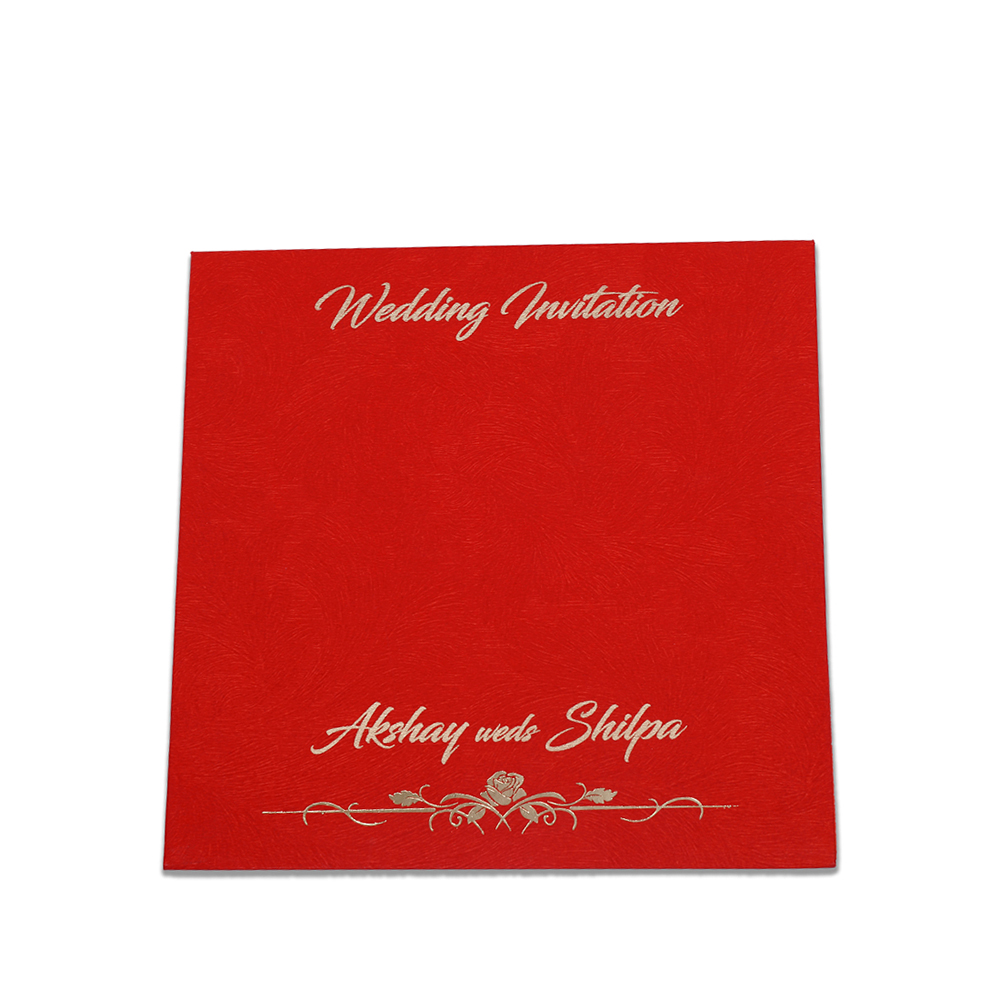 Simple and elegant hindu wedding invitation in red