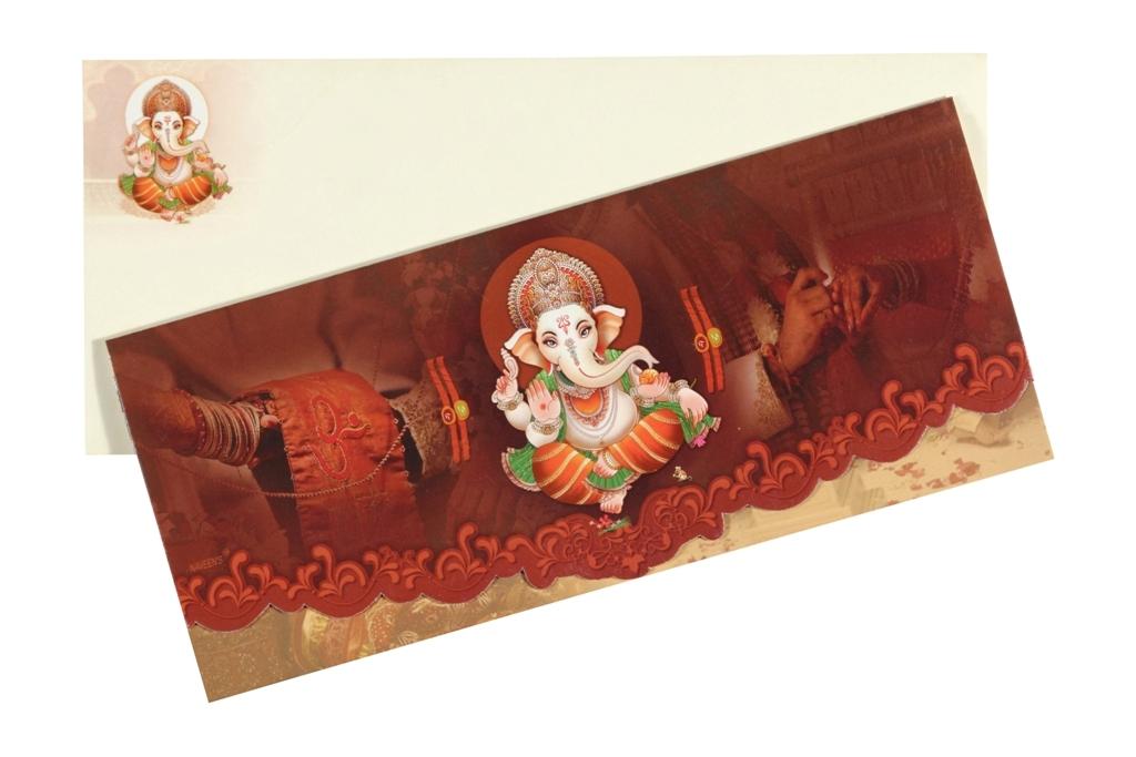 Traditional Ganesha Design Wedding Invitation – Traditional Wedding Invitations Online