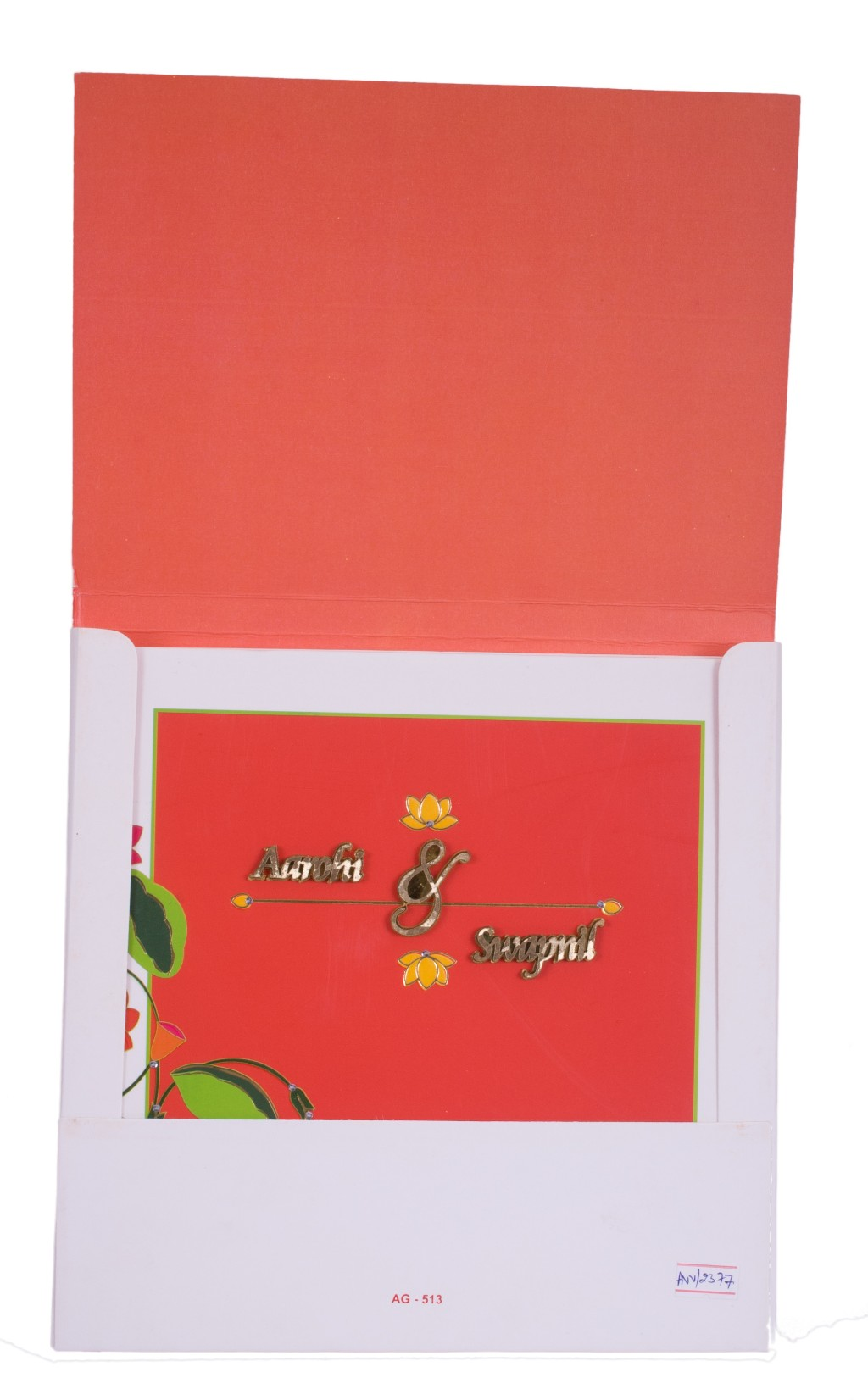 Multicolored-floral wedding invitation card