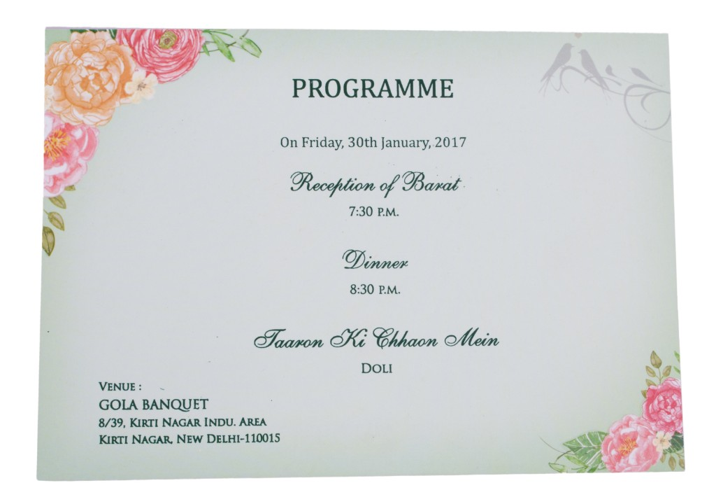 Beautiful birds on pink wedding invite with multicolored inserts stopboris Images