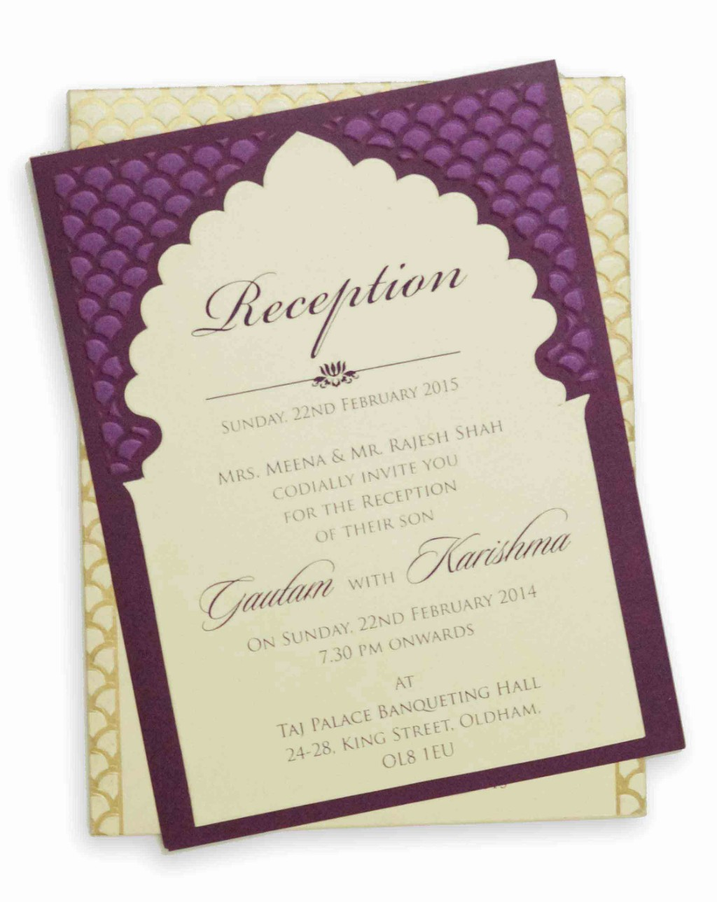 Invitation card with a beautiful purple touch royal invitation card with a beautiful purple touch stopboris Choice Image