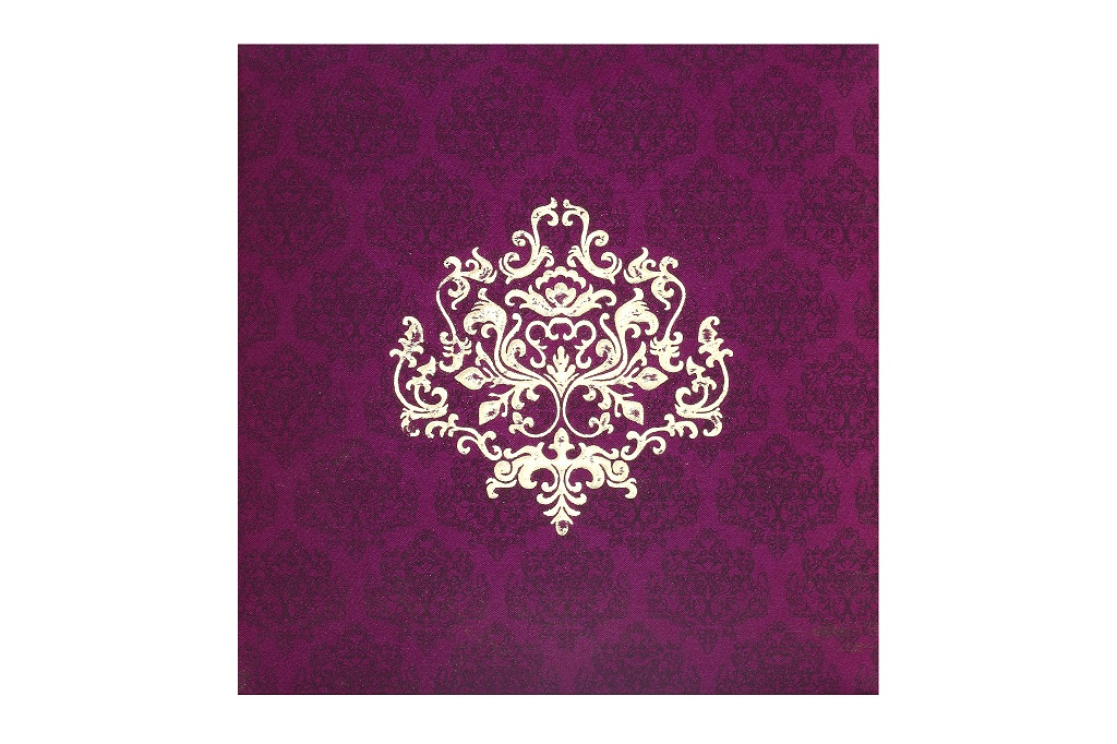Card Box in Purple and Golden Colour