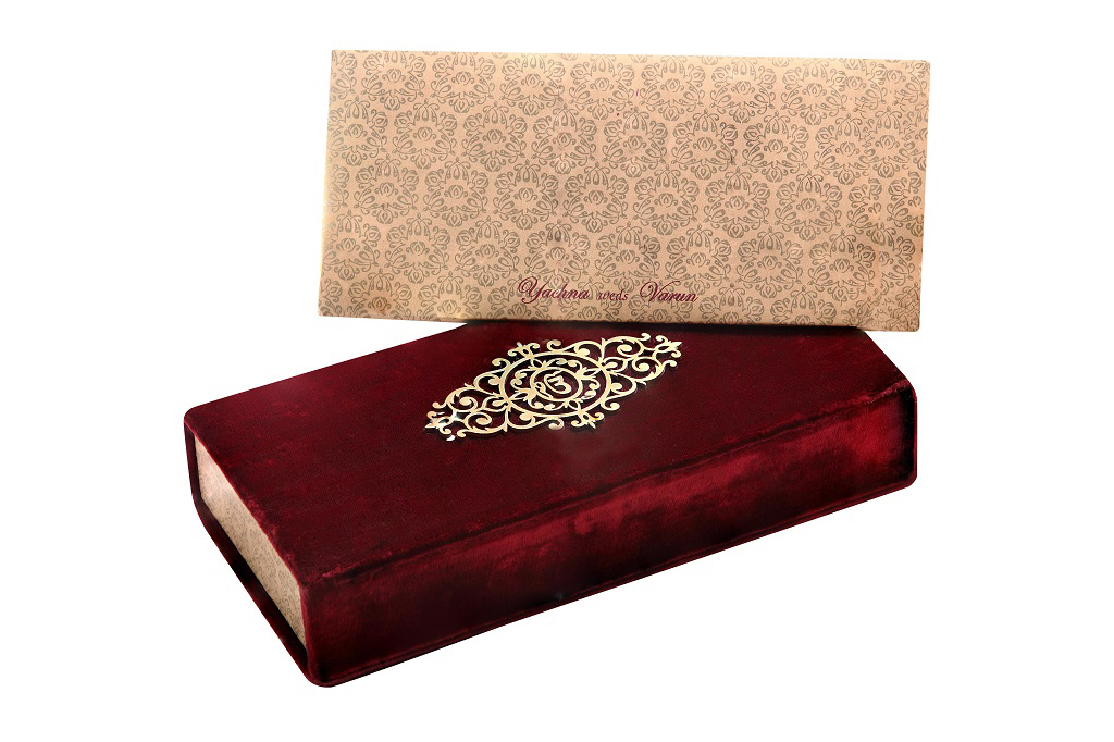 Wedding Card Box with Ek-Omkar Card & Sweet Box