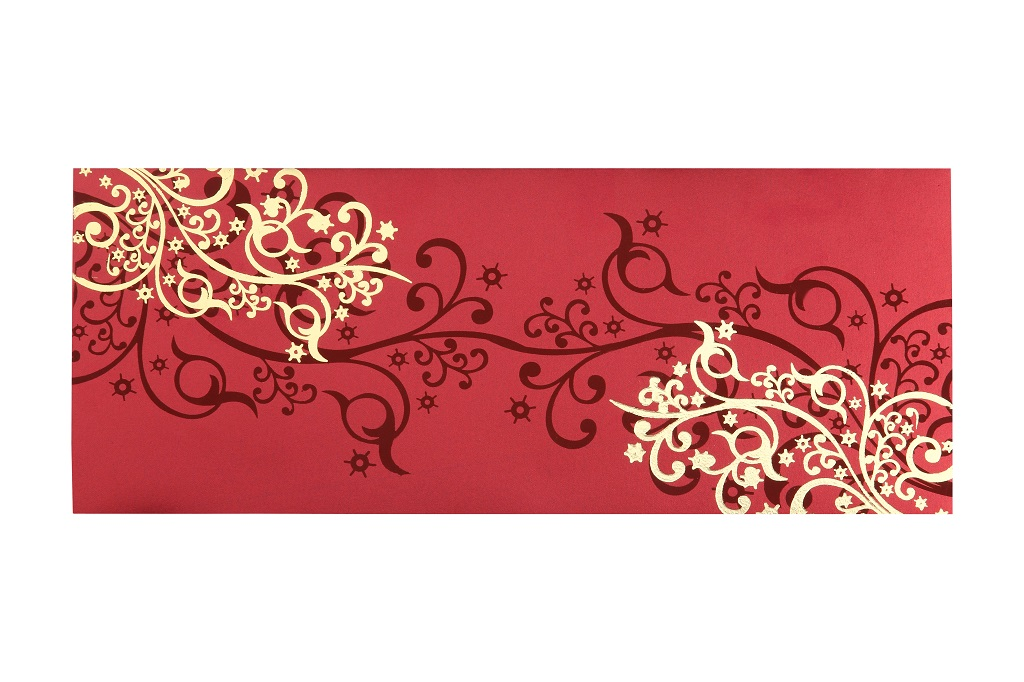 wedding cards in hyderabad general bazar%0A Wedding Card in Vibrant Red and Golden Colour
