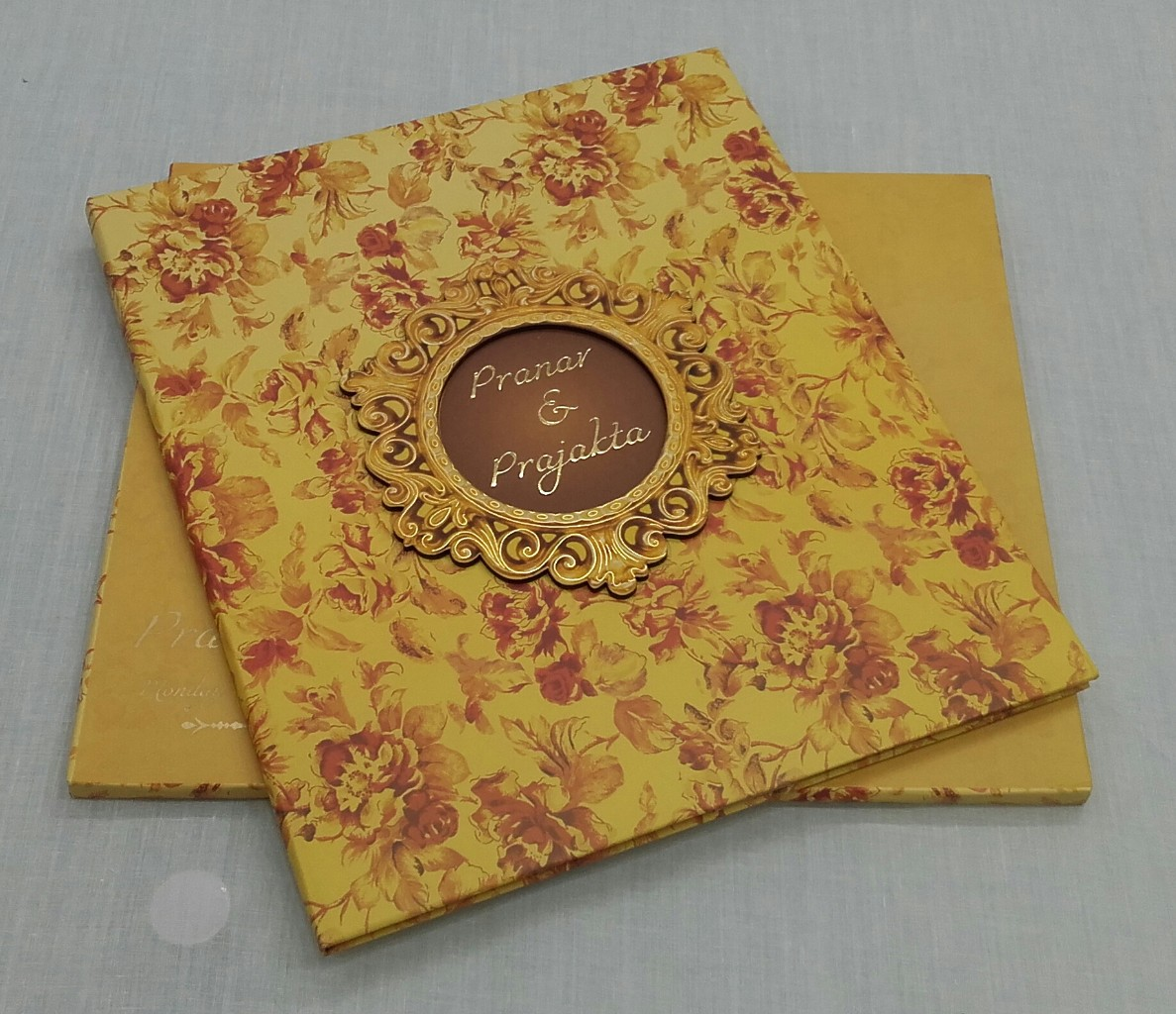 Yellow Floral Wedding Invitation Card