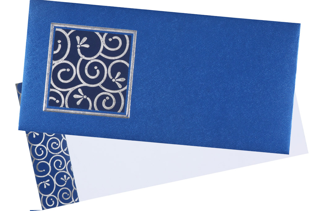 Invitation in royal blue and silver colour wedding invitation in royal blue and silver colour stopboris Choice Image
