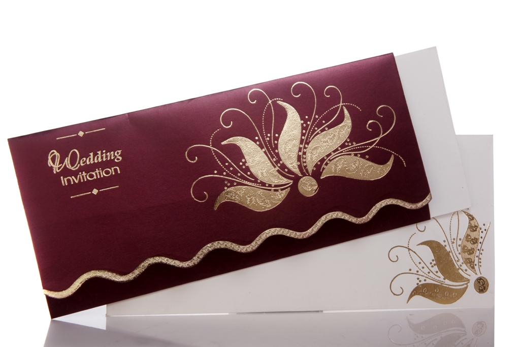 Wedding Invitation With Wine Color Background | Wedding ...
