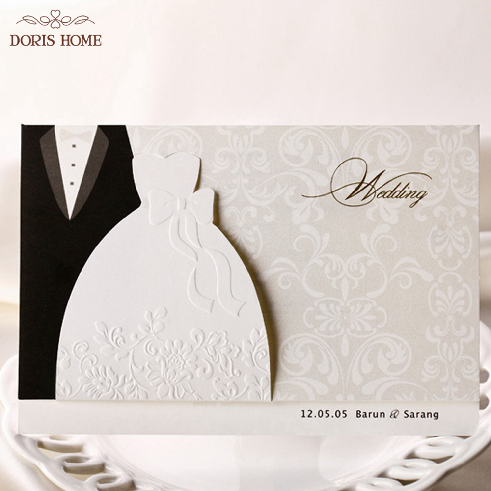 Western-style Groom & Bride Wedding Invitations Cards