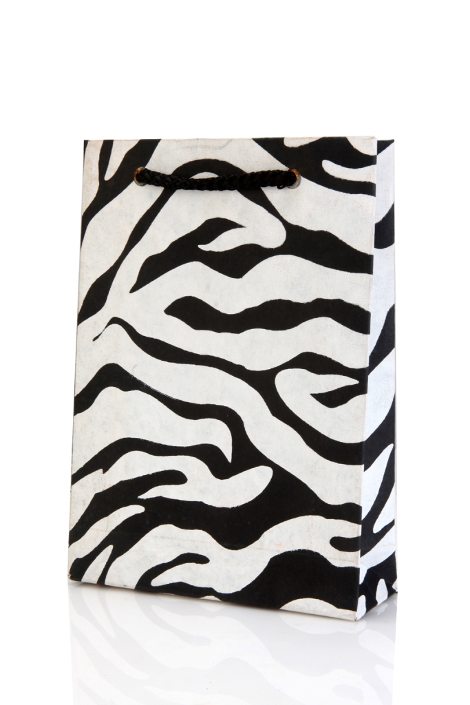 Tiger Print Black And White White And Black Bag With Tiger