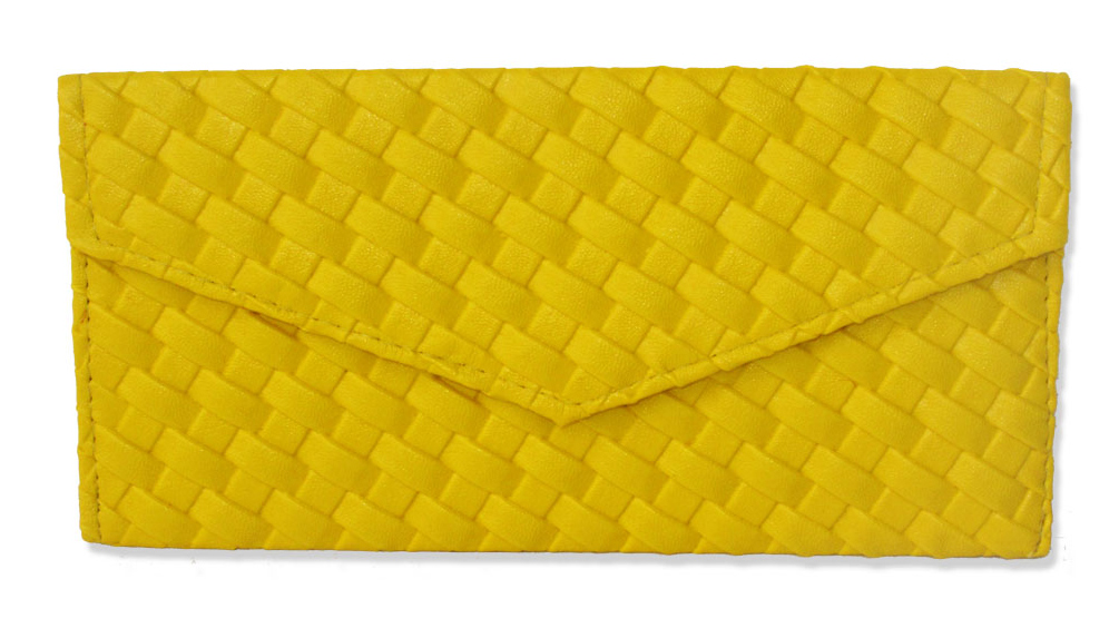 Yellow Leather Envelope