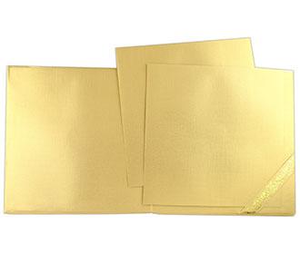 Laser cut Indian wedding invitation in golden colour