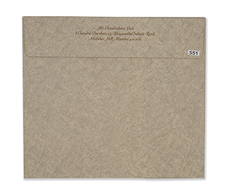 Marble print light brown indian wedding invitation