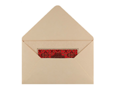 Maroon and Indian Red Card with Golden Ganesha Design