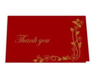 Thank you card  in Re..