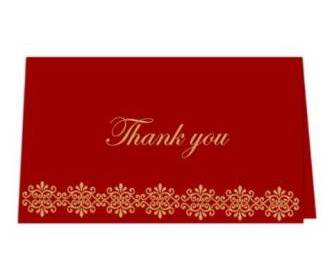 Thank you card  in Re