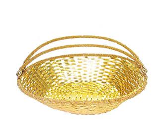 Mettalic Gold Weaved Packing basket -