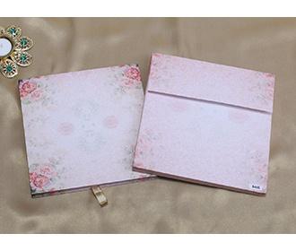 Multicolour floral Indian wedding invitations