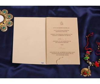 Multifaith Beige laser cut wedding invite