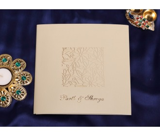 Multifaith cream wedding invite