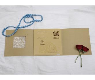 Multifaith Greenish wedding invite