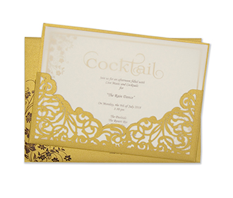 Multifaith Indian wedding card with a laser cut insert holder -