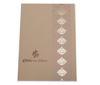 Multifaith Indian wedding inviatation in olive green colour