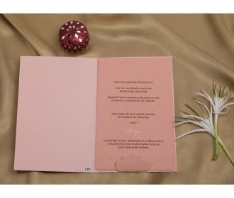 Multifaith Pink laser cut wedding invite