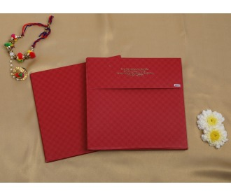 Multifaith red colored wedding invite
