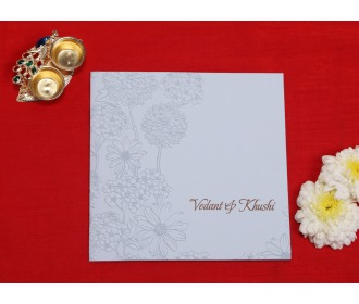Multifaith Roses White wedding invite