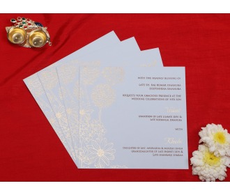 Multifaith Roses White wedding invite