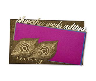 Multifaith wedding card in copper with laser cut design
