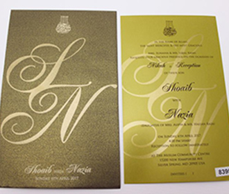 Buy cheap indian wedding invitations online in wedding budget in budget invites muslim indian wedding invitation in brown and golden color filmwisefo