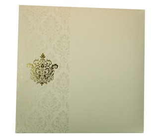 Muslim Wedding Invitation Card in Ivory with Allah Symbol