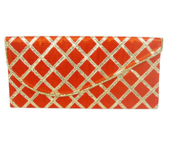 Orange Lace Envelope -