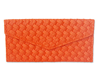 Orange Leather Envelope -