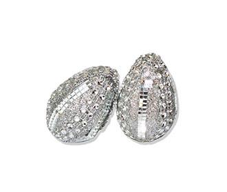 Pair of decorated supari nariyal in silver -