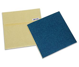 Paisley theme laser cut wedding invite in blue colour