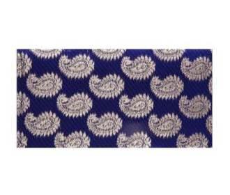 Paisley Wedding Shagun Envelope indigo And Golden -