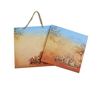 Pastel colour traditional hindu wedding invitations -