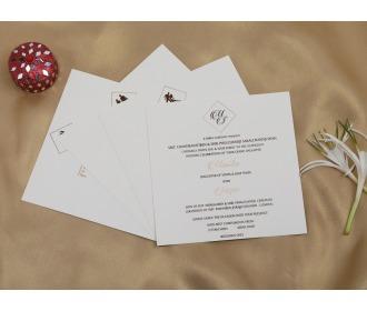 Pink colored Ganesha wedding invite
