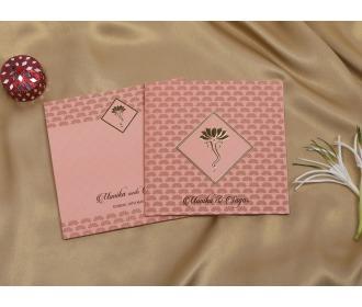 Pink colored Ganesha wedding invite -