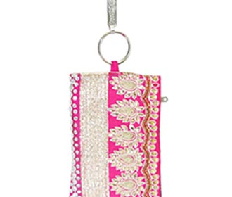 Pink Designer Mobile Pouch -