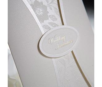 Postage friendly vintage laser cut invite with flower design