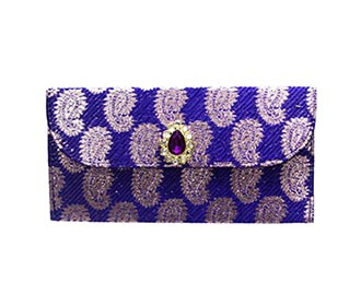 Purple Brocade Envelope -