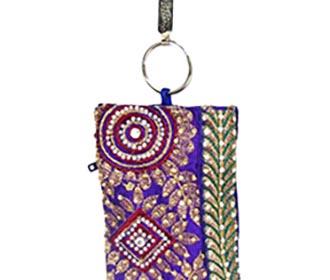 Purple Designer Mobile pouch -