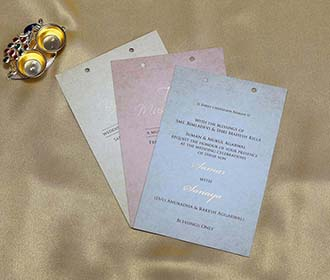 Rajasthani Royal Indian Wedding Card in Light Brown Colour