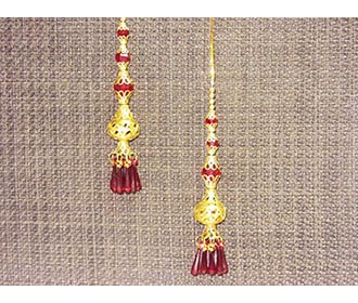 Red & Gold Handcrafted Kaleeri