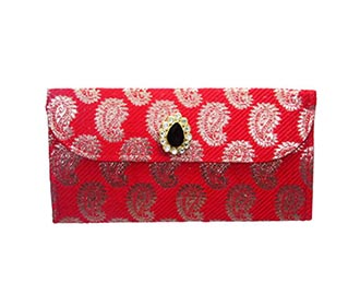 Red Brocade Envelope..