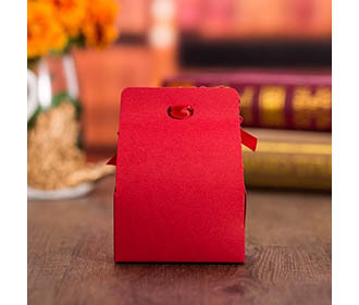 Red Flower Laser Cut Engagement and Wedding Favor Boxes