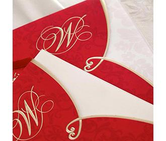 Red Groom & Bride Theme Christian Wedding Invitations Cards